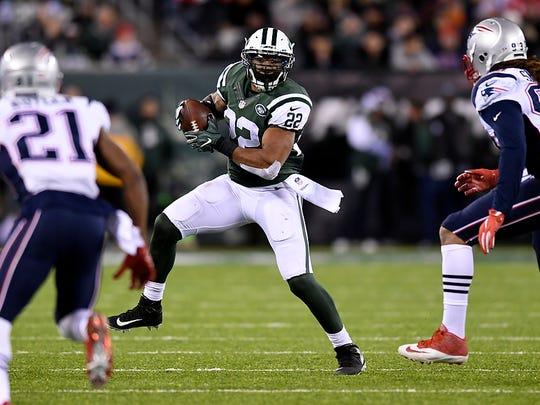 New York Jets running back Matt Forte (22) had 13 carries