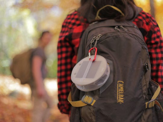 MPOWERD's inflatable solar lights are easy to tote and charge while you're hiking.