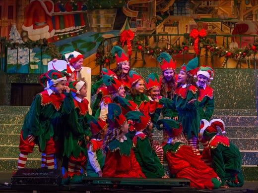 front row childrens chorus celebrates christmas on the coast - Who Celebrates Christmas