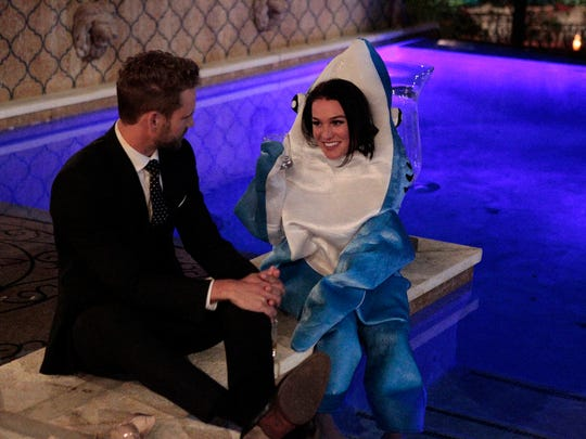 "Alexis, an aspiring dolphin trainer, kept her costume on for the entirety of the first episode of ""The Bachelor"" with Nick Viall."