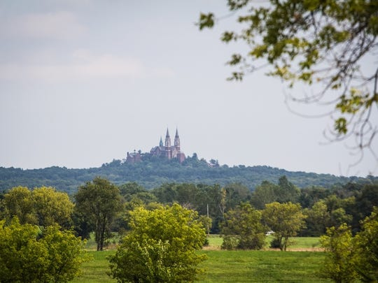 Holy Hill is situated atop southeastern Wisconsin's highest point overlooking 435 acres.