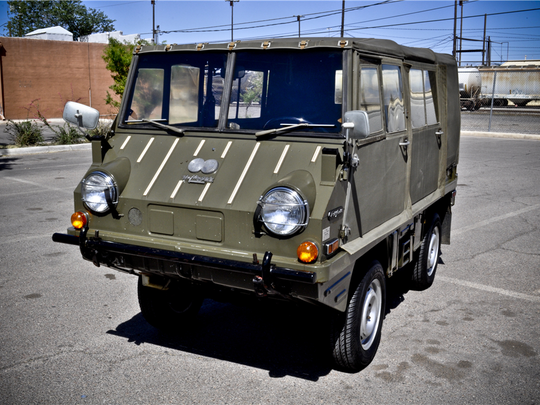 This Halfinger troop carrier, which spent most of its life as a display vehicle, is scheduled for auction at Barrett-Jackson Scottsdale on Monday, Jan. 16, 2017.