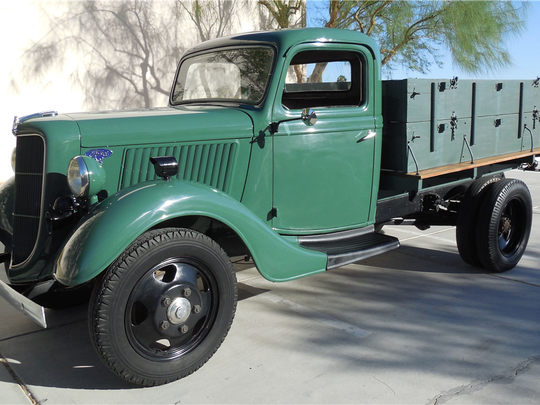 "This Ford ""stake bed"" truck is scheduled for auction at Barrett-Jackson Scottsdale on Monday, Jan. 16, 2017."