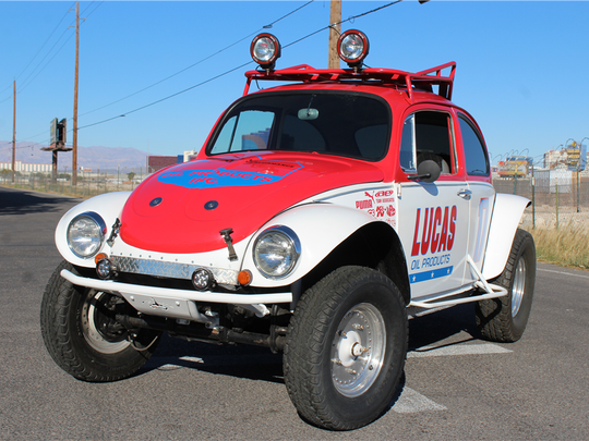 This 1971 Volkswagen Baja Beetle, which raced off road for much of its life, is scheduled for auction at Barrett-Jackson Scottsdale on Monday, Jan. 16, 2017.