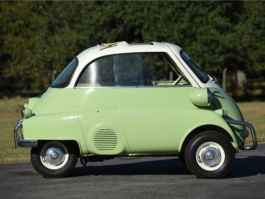 This 1958 BMW Isetta 300 is scheduled for auction at Barrett-Jackson Scottsdale on Tuesday, Jan. 17, 2017.