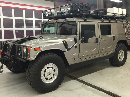 This 2004 Hummer H1 previously owned by Zac Brown is scheduled for auction at Barrett-Jackson Scottsdale on Wednesday, Jan. 18, 2017.
