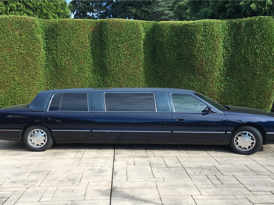 This 1999 Cadillac stretch limo is scheduled for auction at Barrett-Jackson on Wednesday, Jan. 18, 2017.