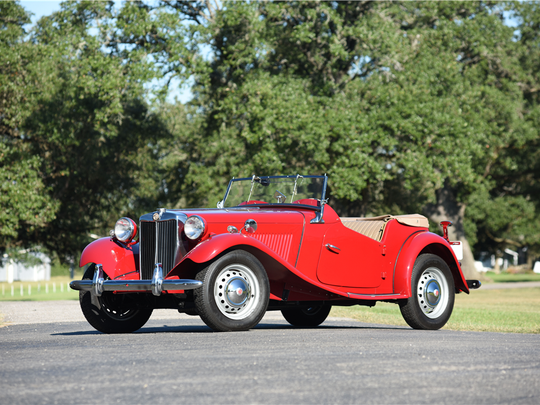 This 1953 MG TD roadster is scheduled for auction at Barrett-Jackson Scottsdale on Wednesday, Jan. 18, 2017.