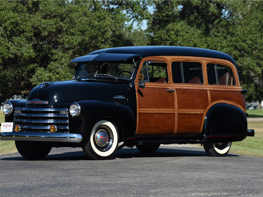 This 1948 Chevrolet Suburban is scheduled for auction at Barrett-Jackson Scottsdale on Wednesday, Jan. 18, 2017.