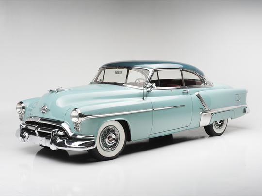 This 1952 Oldsmobile 98 Holiday is scheduled for auction at Barrett-Jackson Scottsdale on Thursday, Jan. 19, 2017.