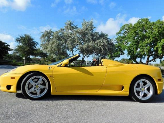 This 2004 Ferrari 360 Spider is one of several modern  cars scheduled for auction at Barrett-Jackson Scottsdale on Thursday, Jan. 19, 2017.