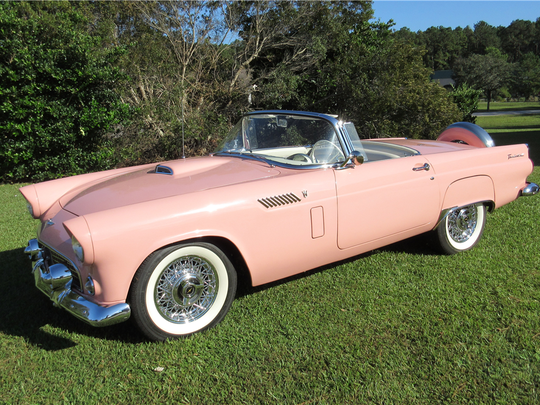 This 1956 Ford Thunderbird convertible is scheduled for auction at Barrett-Jackson Scottsdale on Thursday, Jan. 19, 2017.