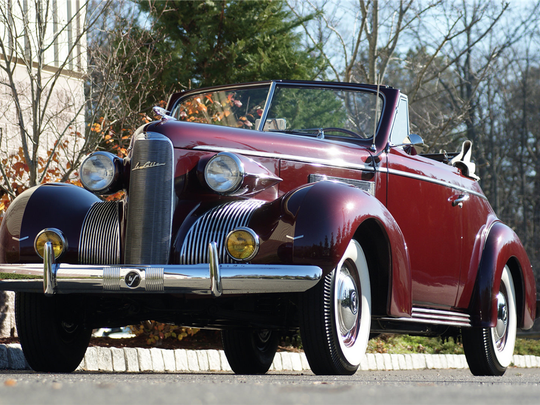 This 1939 LaSalle convertible is scheduled for auction at Barrett-Jackson Scottsdale on Thursday, Jan. 18, 2017.
