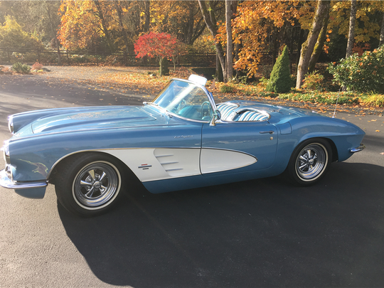 This 1961 Chevrolet Corvette is scheduled for auction at Barrett-Jackson Scottsdale on Thursday, Jan. 19, 2017.