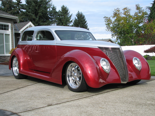 This 1937 Ford custom coupe is scheduled for auction at Barrett-Jackson Scottsdale on Thursday, Jan. 19, 2017.