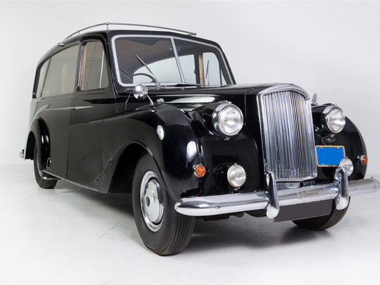 This 1956 Austin Princess once owned by John Lennon is scheduled for auction at Barrett-Jackson Scottsdale on Saturday, Jan. 21, 2017.
