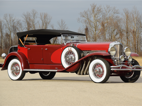 This 1930 Duesenberg J is scheduled for auction at