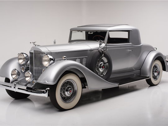 This 1934 Packard coupe is scheduled for auction at Barrett-Jackson Scottsdale on Saturday, Jan. 21, 2017.