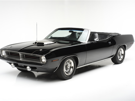 This 1970 Plymouth HEMI 'Cuda is scheduled for auction at Barrett-Jackson Scottsdale on Saturday, Jan. 21, 2017.