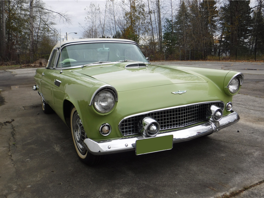 This 1956 Ford Thunderbird convertible is scheduled