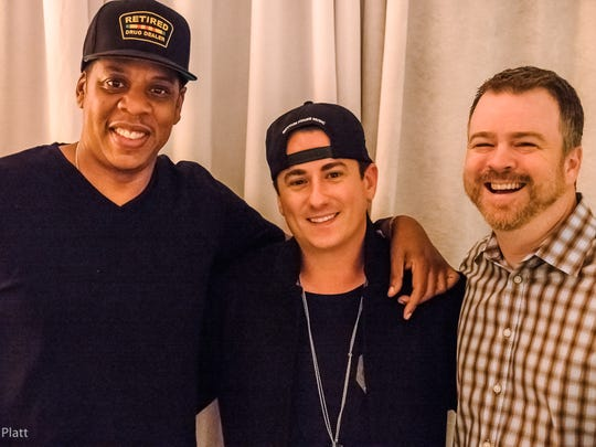 Jay-Z, Roc Nation's Jesse Frasure and Warner/Chappell