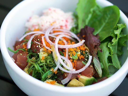 Kabuki Japanese Restaurant | The poke tuna is made