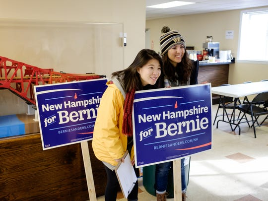 Wake Forest students in the Wake the Vote project volunteer on presidential campaigns in New Hampshire on Feb. 9, 2016.