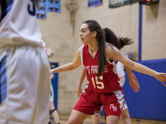 The versatile Aleya Corretjer is tied for first on North Rockland in scoring (10.5 ppg) and first in rebounding (8.5 rpg).