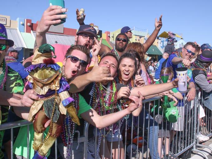 The 2017 Krewe of Wrecks Mardi Gras Parade on Pensacola