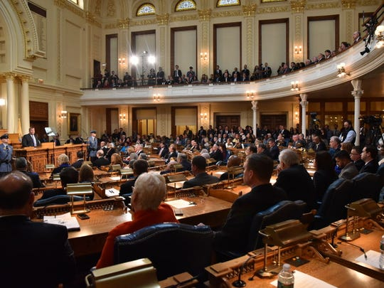New Jersey lawmakers listen to Gov. Christie talk about