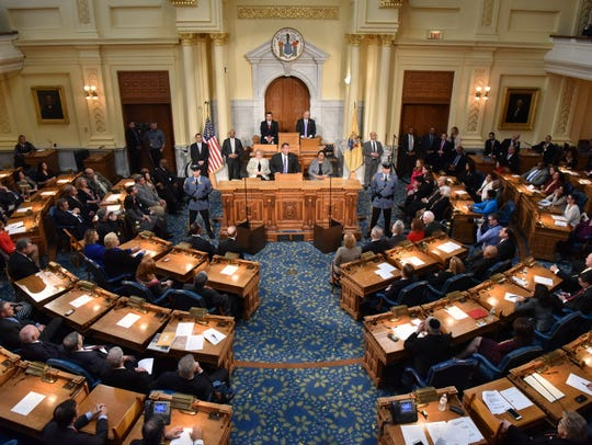 The New Jersey Legislature as Christie offered his