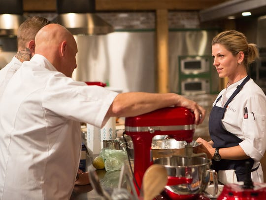 """TOP CHEF -- """"For the Kids"""" Episode 1409 -- Pictured: Casey Thompson -- (Photo by: Paul Cheney/Bravo)"""