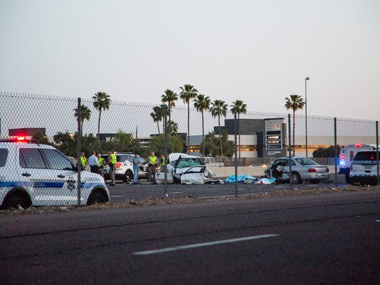 Three people died in a two car wrong-way collision