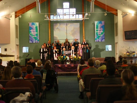 The congregation at the Center for Spiritual Living
