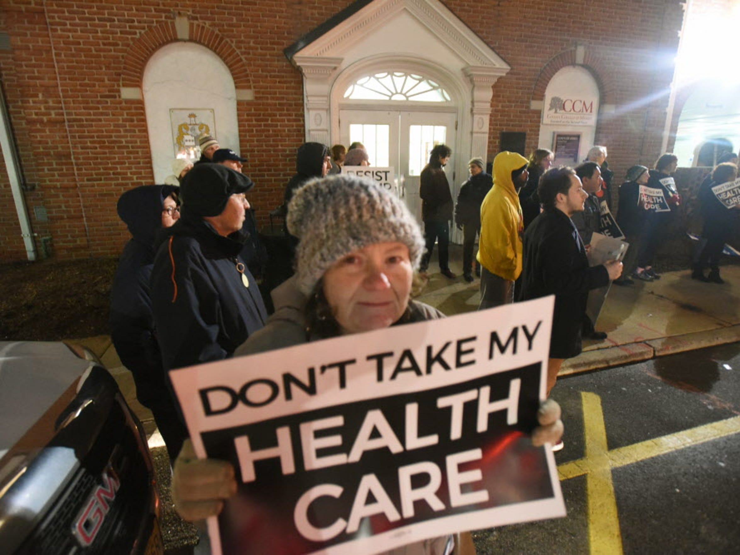 At a vigil outside the Morristown office of U.S. Rep.