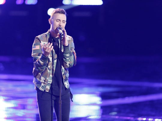 "Lafayette resident Hunter Plake performs during the semifinals Tuesday night on ""The Voice."""