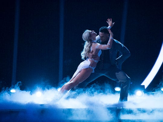 Emma Slater and Rashad Jennings dance into the top four.