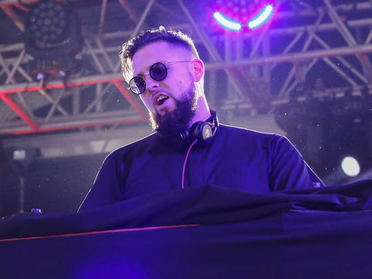 Tchami performs in the Boom Boom Tent during the Hangout
