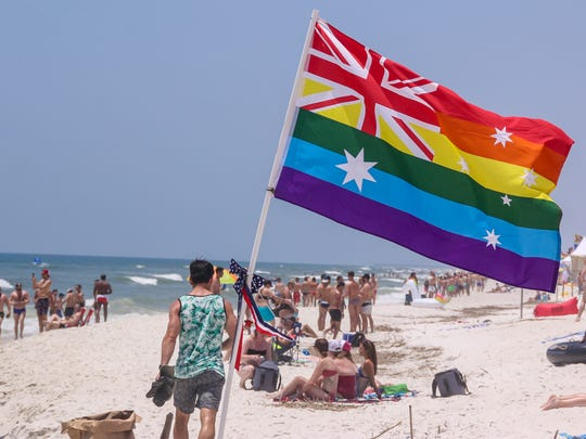 Thousands of people filled up Park East on Pensacola Beach on Saturday, May 27, 2017 during the annual Pride Weekend festivities.