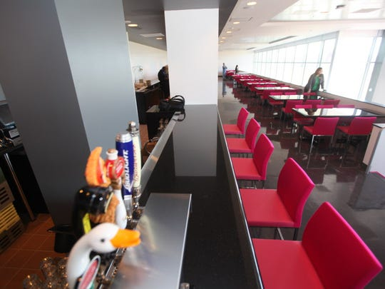 The Pink Lounge at the Meadowlands Racetrack in East Rutherford.