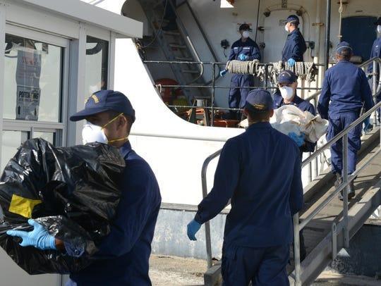 The crew of the U.S. Coast Guard's Cutter Decisive