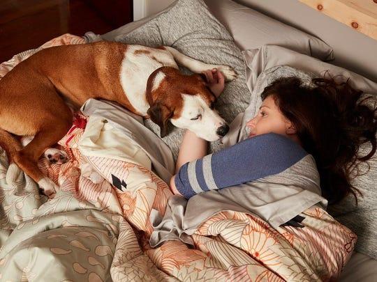 Nan (Allison Tolman) and her dog Martin on 'Downward