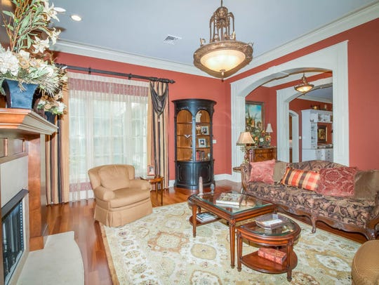 The formal areas open to the dining room and entrance