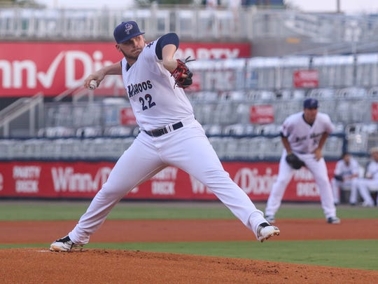 Former Blue Wahoos starter Rookie Davis, now with the