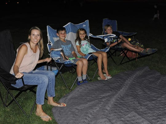 Elissa, Nicholas, Juliana and Dylan at the Movies Under