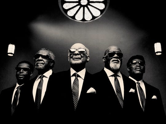 Joey Williams, Ben Moore, Jimmy Carter, Ricky McKinnie and Paul Beasley of the Blind Boys of Alabama.