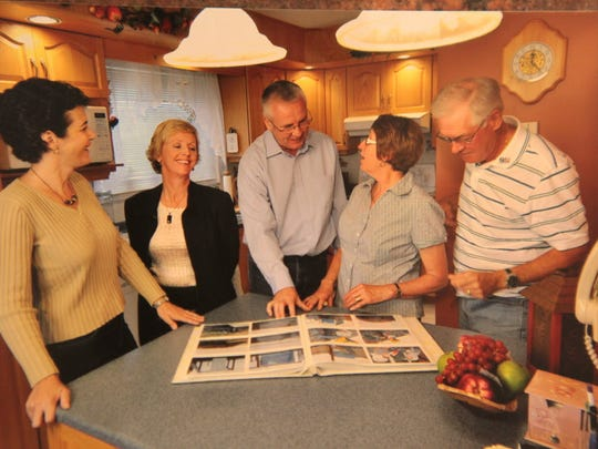 Sue Riccardelli (far left) and Maureen Murray (2nd from left) are shown with a journalist from Al Jazeera English and friends from Gander, Nellie Moss and Mac Moss in 2011. Riccardelli and Murray were on a flight from Paris back to the US on 9/11 when their plane was diverted to Gander, Newfoundland, Canada. They become close friends with people they stayed with 15 years ago and make a point to see them every year.