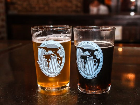 Samples from last year's Emerald Coast Beer Festival at Seville Quarter.