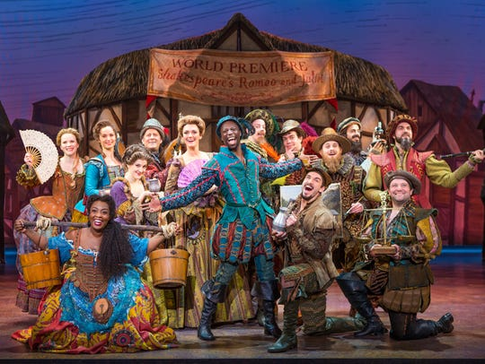 "The cast of ""Something Rotten!"" which runs Oct. 10-15"