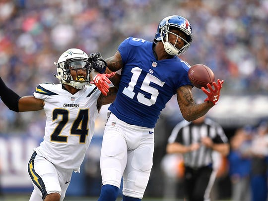 New York Giants wide receiver Brandon Marshall is one of the veterans whose future remains uncertain as team brass examines salaries and production moving forward.